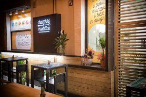 Progettazione e modellazione locali commerciali Fast Food Chiacchiri e Muddica Design per layout.