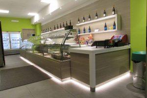 Progettazione e modellazione locali commerciali Panificio Zero Glutine Design per layout.